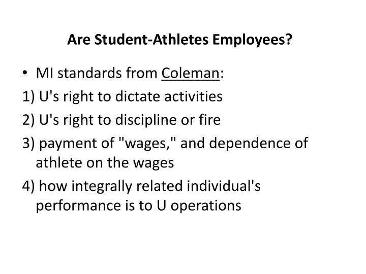 Are Student-Athletes Employees?