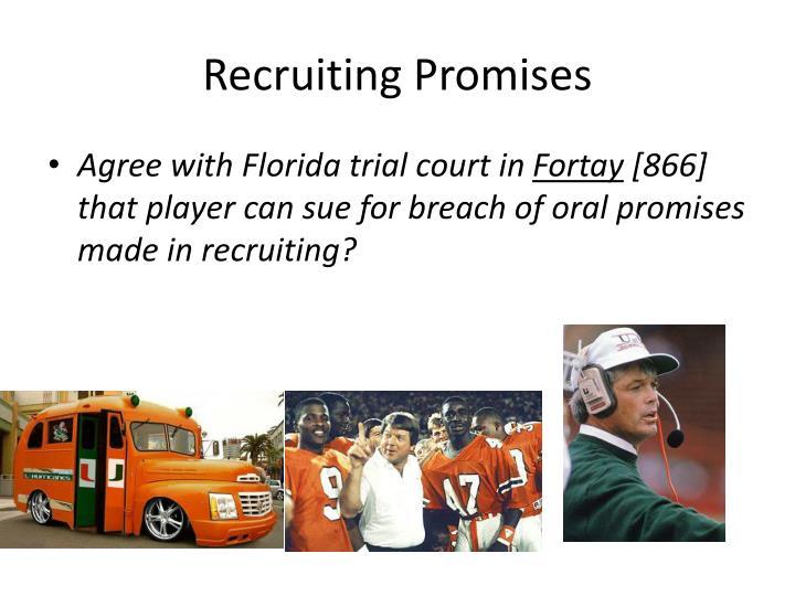 Recruiting Promises