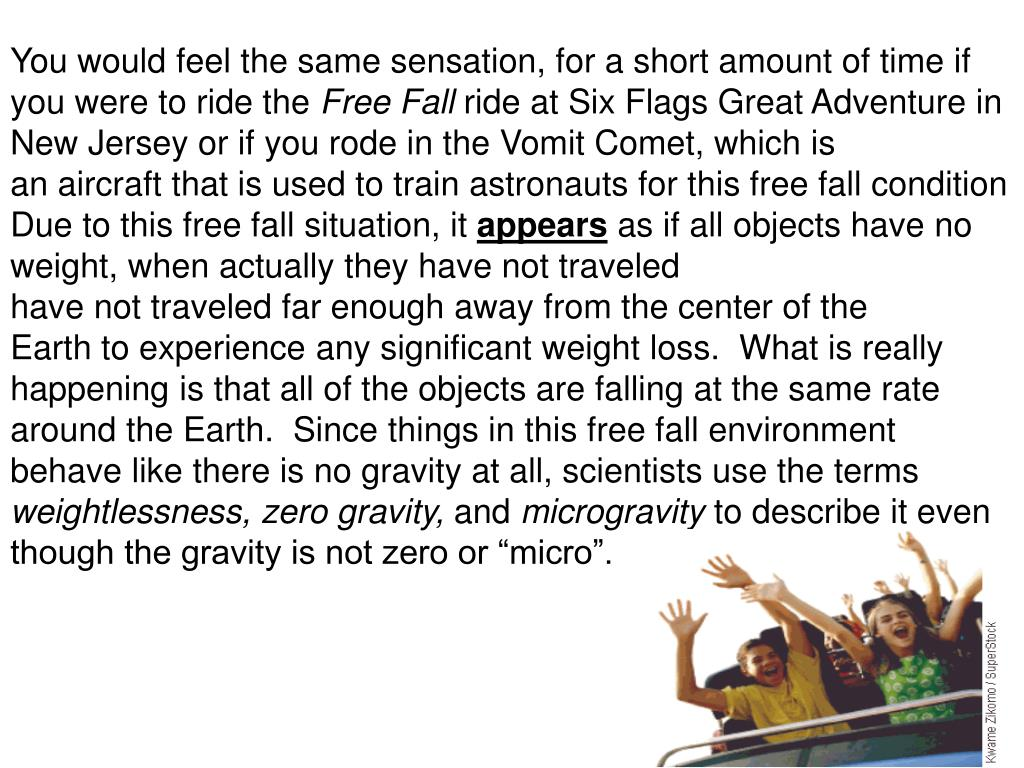 astronauts in an orbiting space shuttle experience a sensation of weightlessness because - photo #47