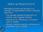 make up requirements