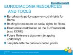 eurodiaconia resources and tools