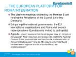 the european platform for roma integration