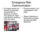 emergency risk communication