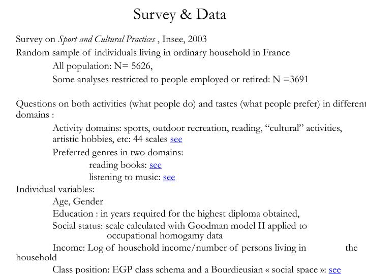 Survey & Data