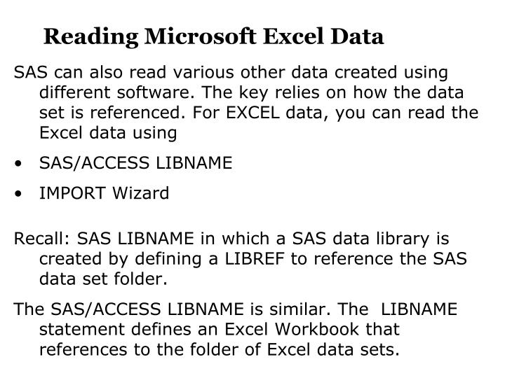 Reading Microsoft Excel Data
