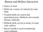 human and mollusc interaction