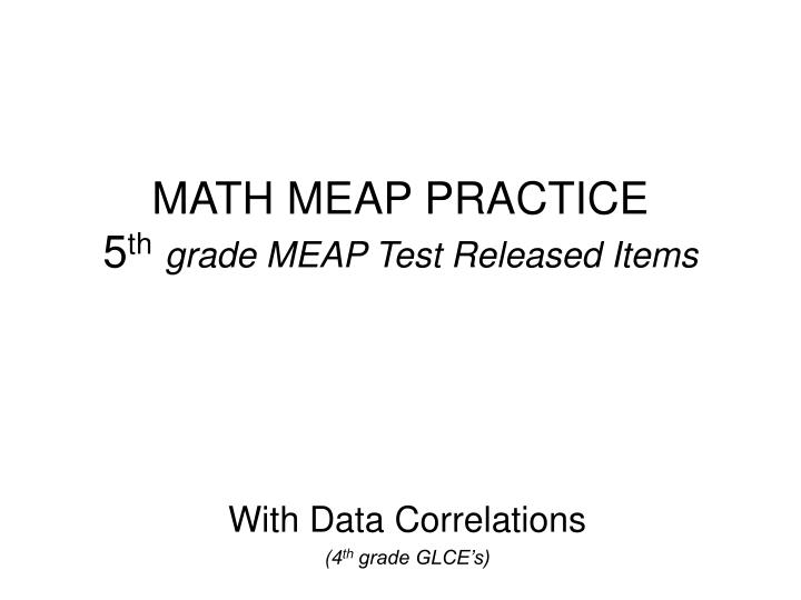 math meap practice 5 th grade meap test released items n.