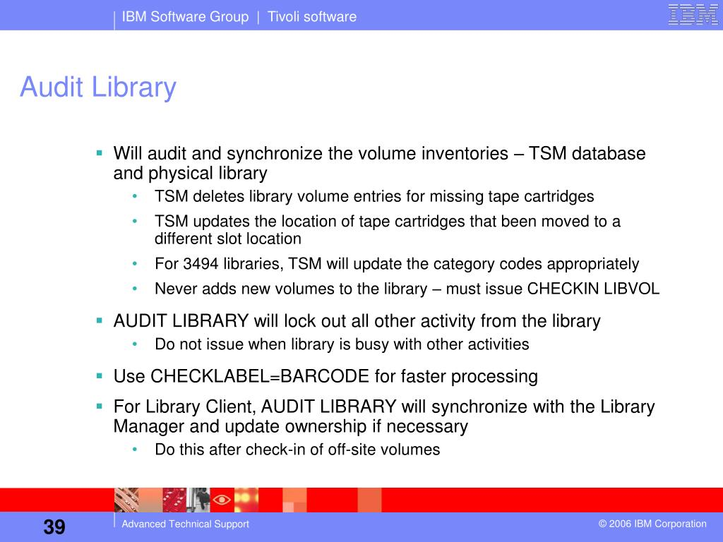 PPT - Tivoli Storage Manager Library Sharing IBM Advanced