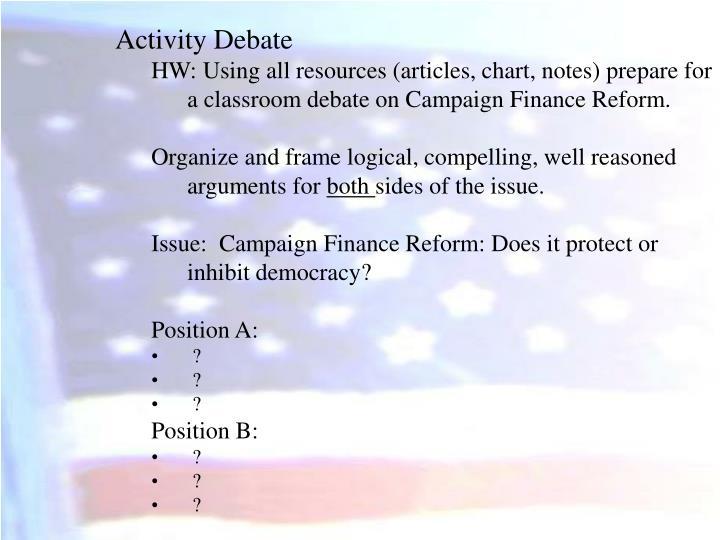 Activity Debate