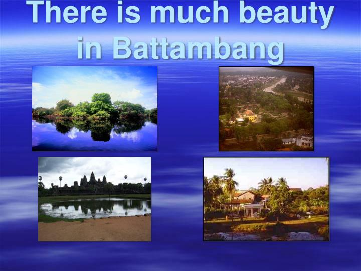 There is much beauty in battambang