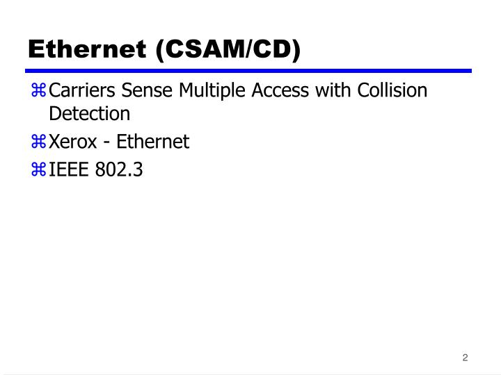 Ethernet csam cd