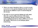 6 2 3 timing recovery