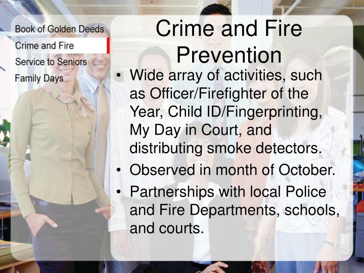 Crime and Fire Prevention