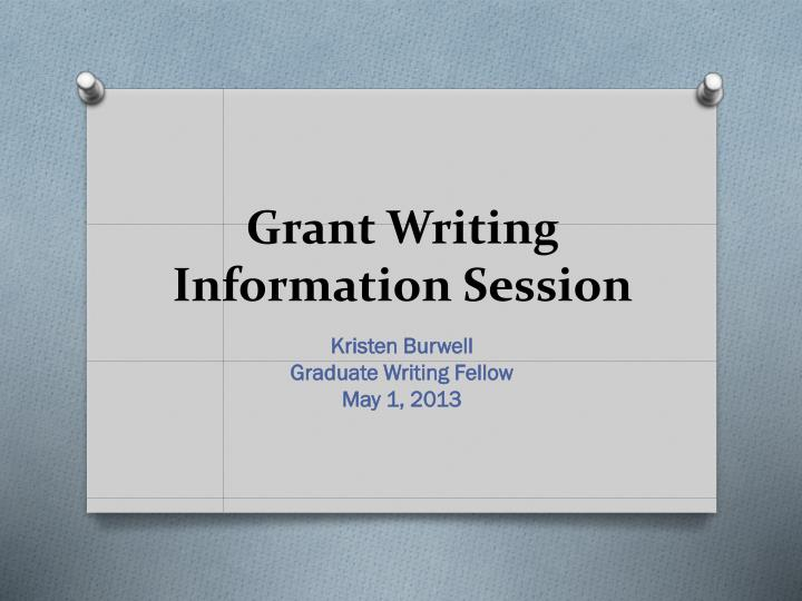 grant writing information session n.