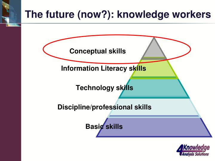 The future (now?): knowledge workers