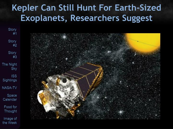 Kepler Can Still Hunt For Earth-Sized Exoplanets, Researchers Suggest