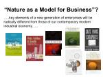 nature as a model for business