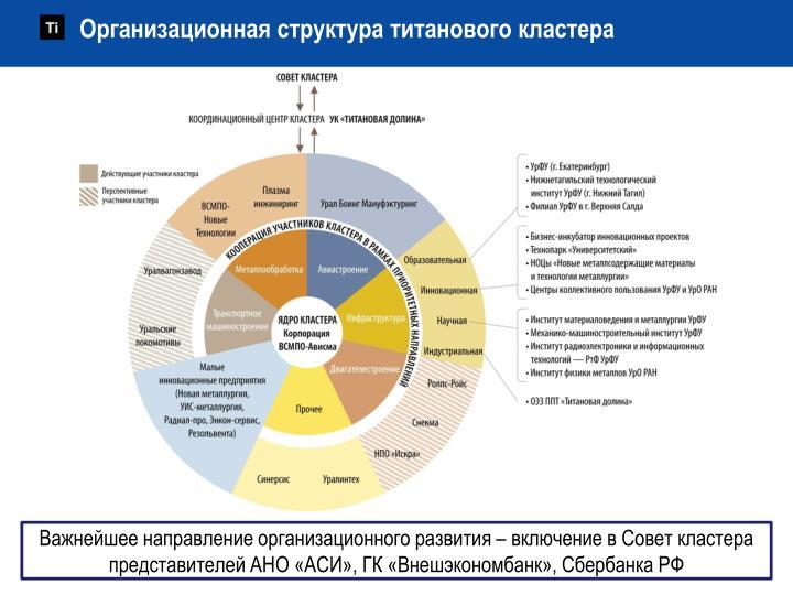 Организационная структура титанового кластера