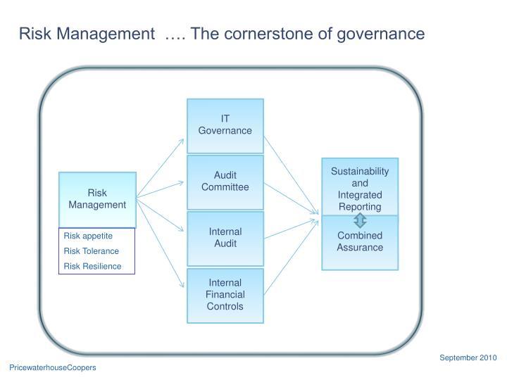 Risk Management  …. The cornerstone of governance