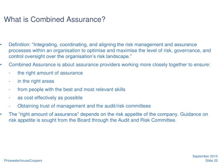 What is Combined Assurance?