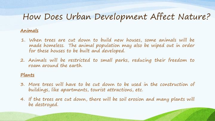 How Does Urban Development Affect Nature?