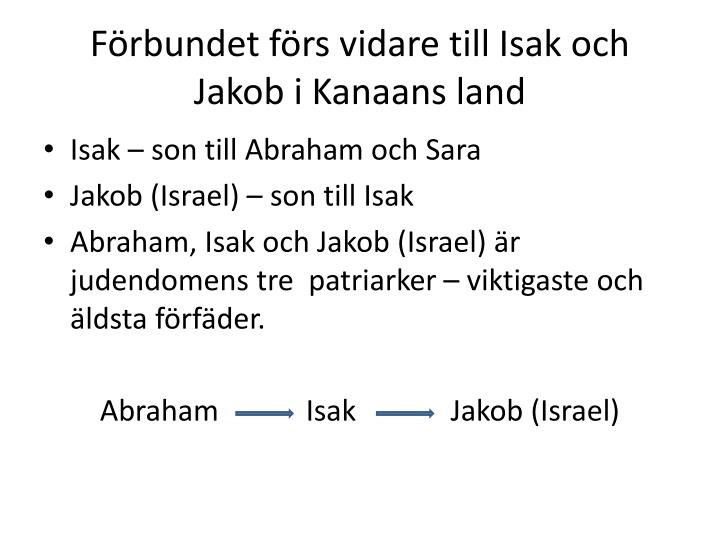 F rbundet f rs vidare till isak och jakob i kanaans land