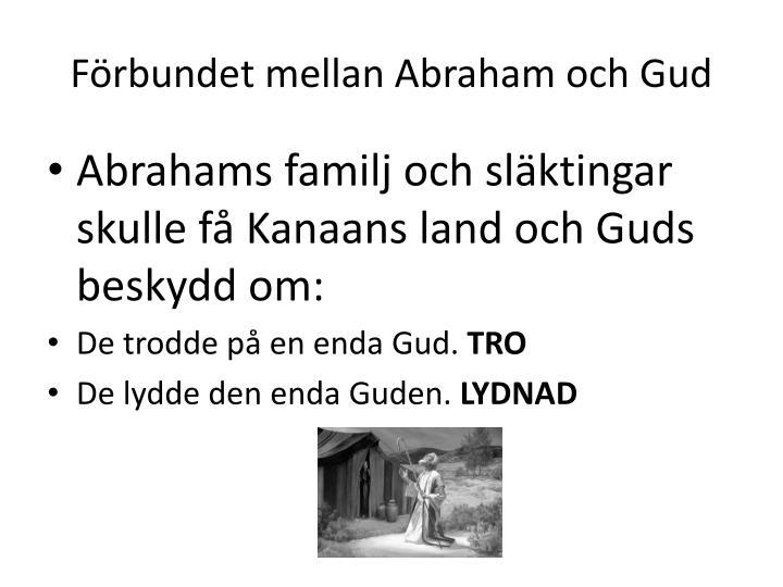 F rbundet mellan abraham och gud