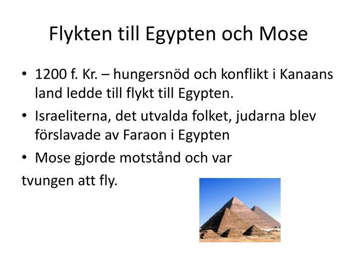 Flykten till Egypten och Mose
