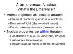 atomic versus nuclear what s the difference