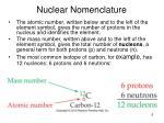nuclear nomenclature