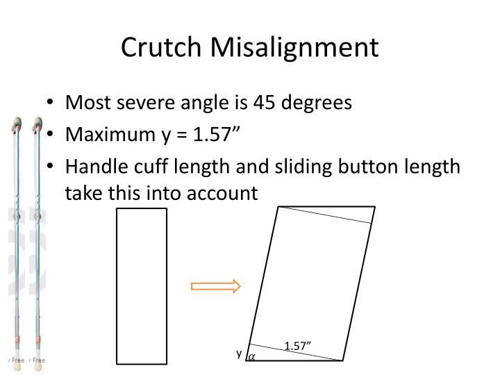Crutch Misalignment