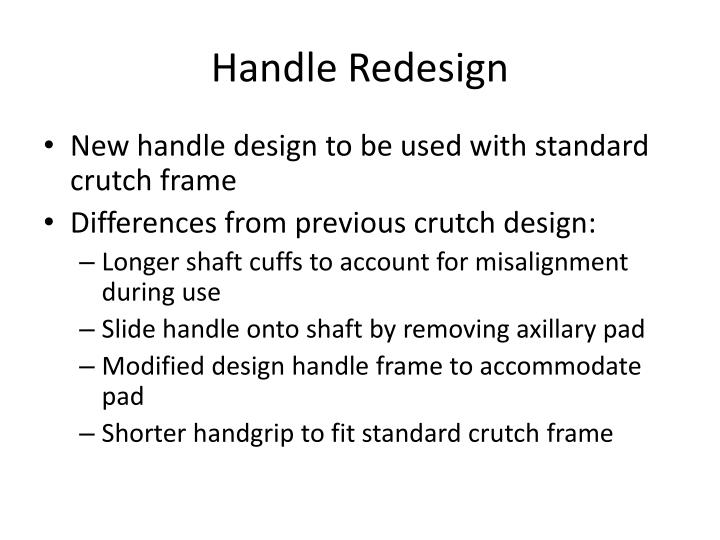 Handle redesign