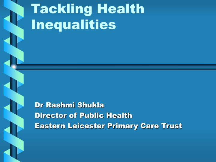 the nhs role in tackling health inequalities Bridging the gap bridging the gap is an online learning resource developed by nhs education for scotland which provides pre-registration nurses, midwives and allied health professionals (nmahps) and others involved in tackling health inequalities in scotland with flexible learning opportunities.