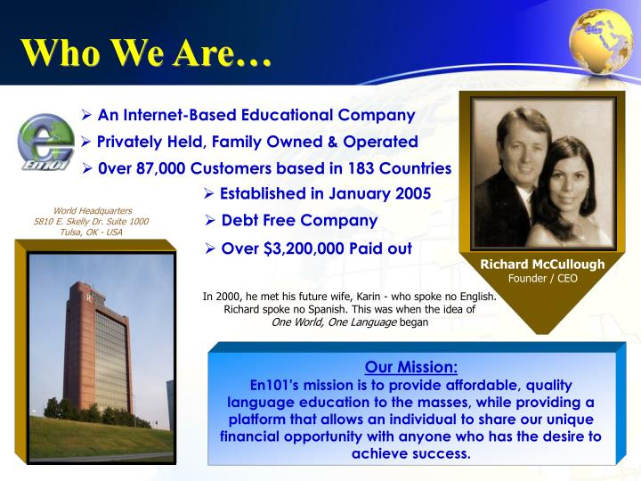 An Internet-Based Educational Company