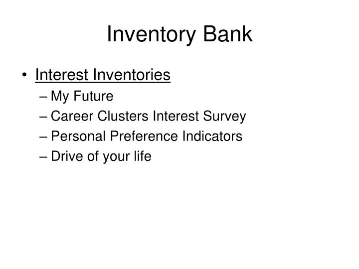 Inventory Bank