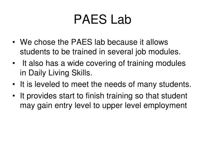 PAES Lab