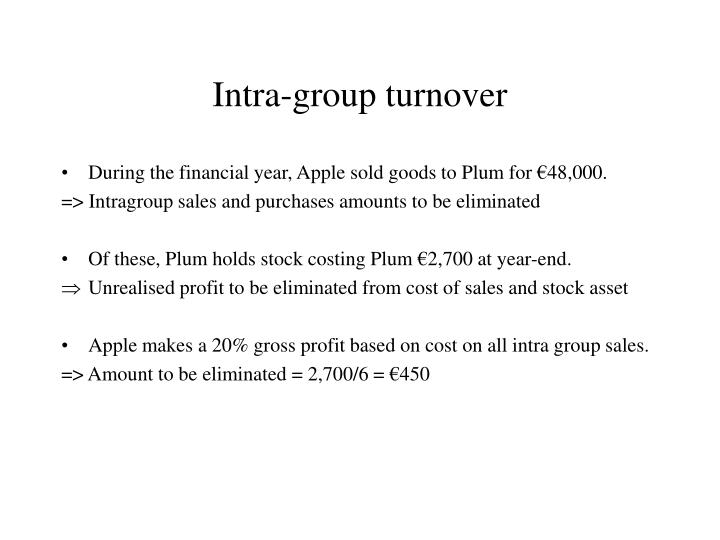 Intra-group turnover