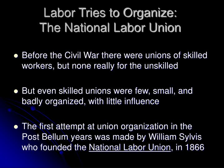 Labor Tries to Organize: