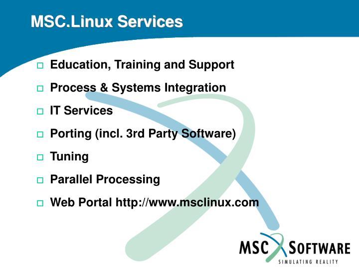MSC.Linux Services