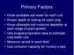 primary factors