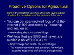 proactive options for agricultural1