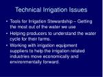 technical irrigation issues