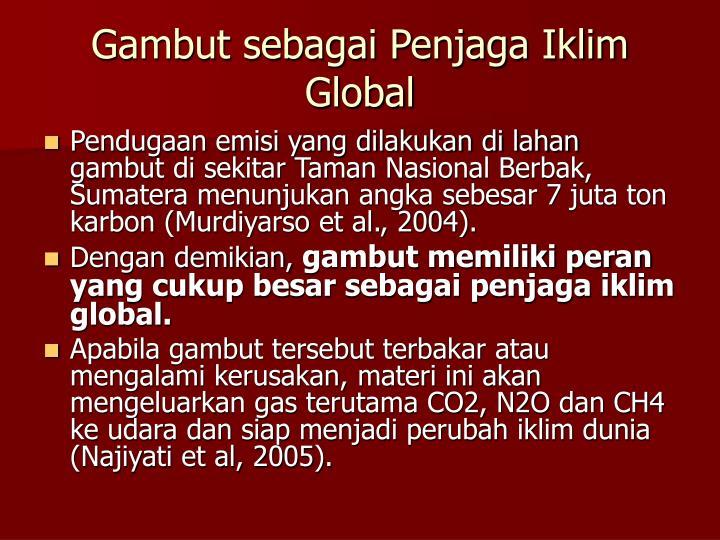 Gambut sebagai Penjaga Iklim Global