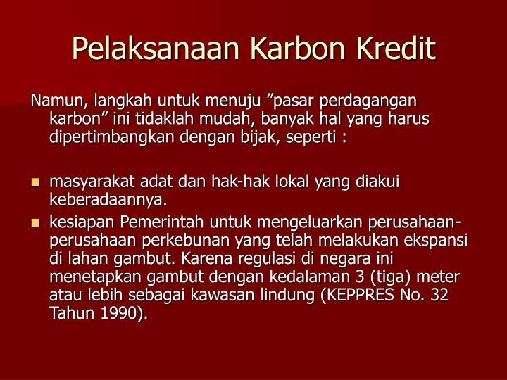 Pelaksanaan Karbon Kredit