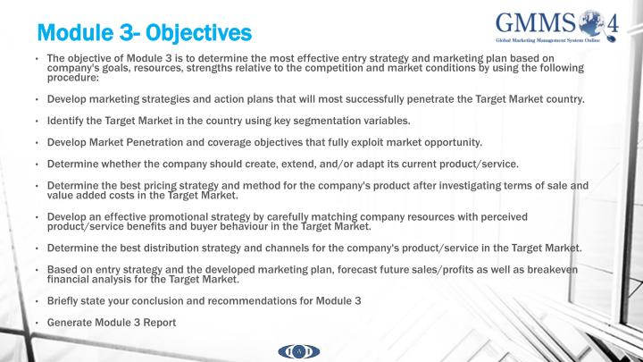 Module 3- Objectives