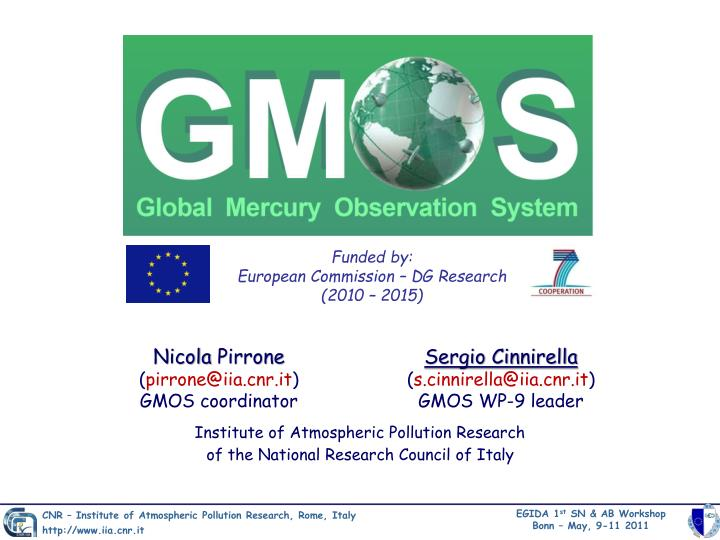 funded by european commission dg research 2010 2015
