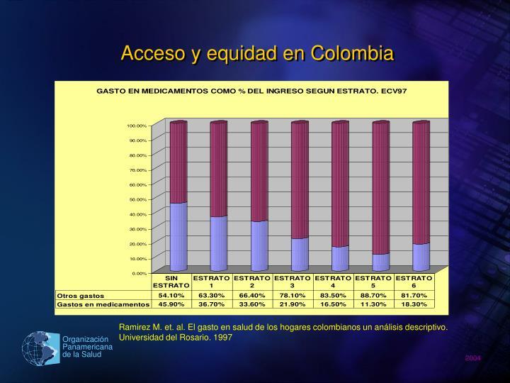 Acceso y equidad en Colombia