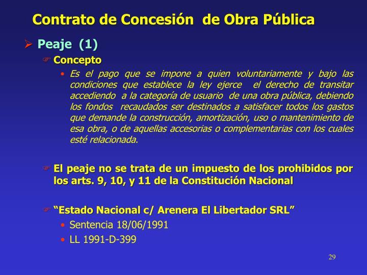 Contrato de Concesión  de Obra Pública