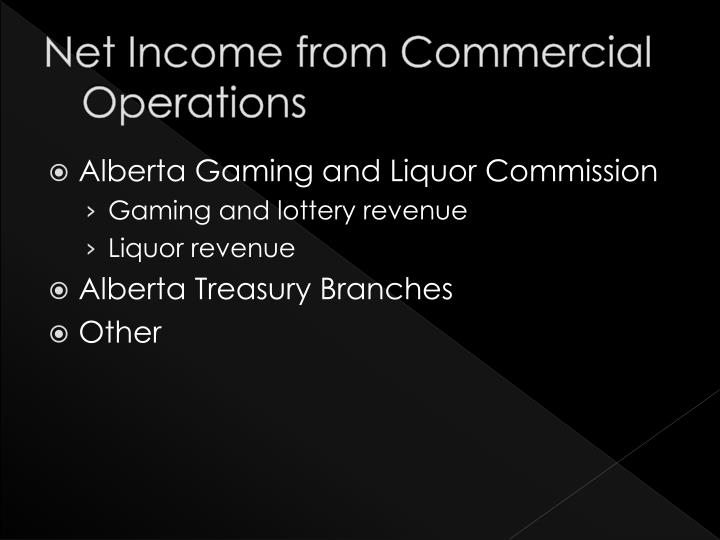 Net Income from Commercial Operations