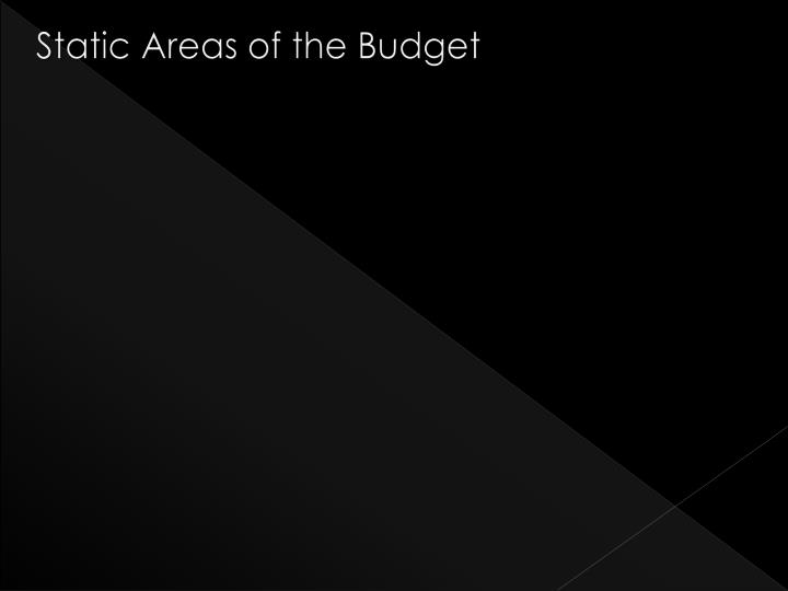 Static Areas of the Budget